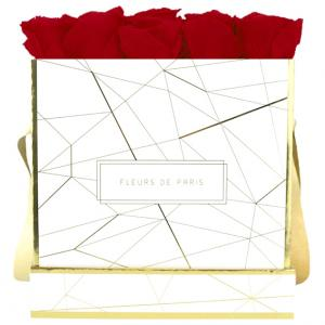 Art Déco Collection Royal Red Large weiss - eckig